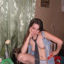 Sweet russian teen with nice body posing at home