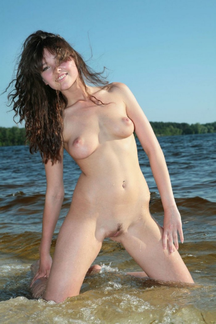 Amazing russian sexy brunette girl with perfect body