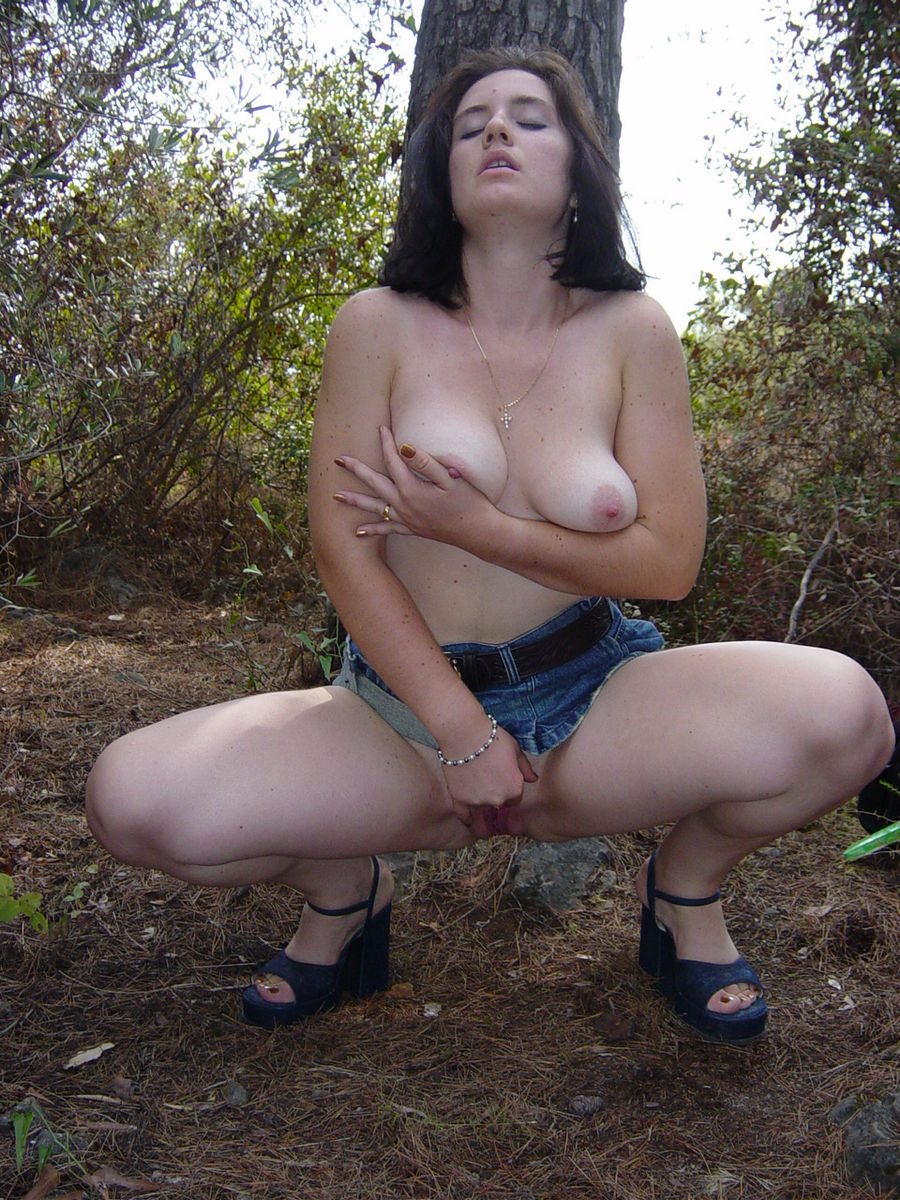 Nude milf outdoors