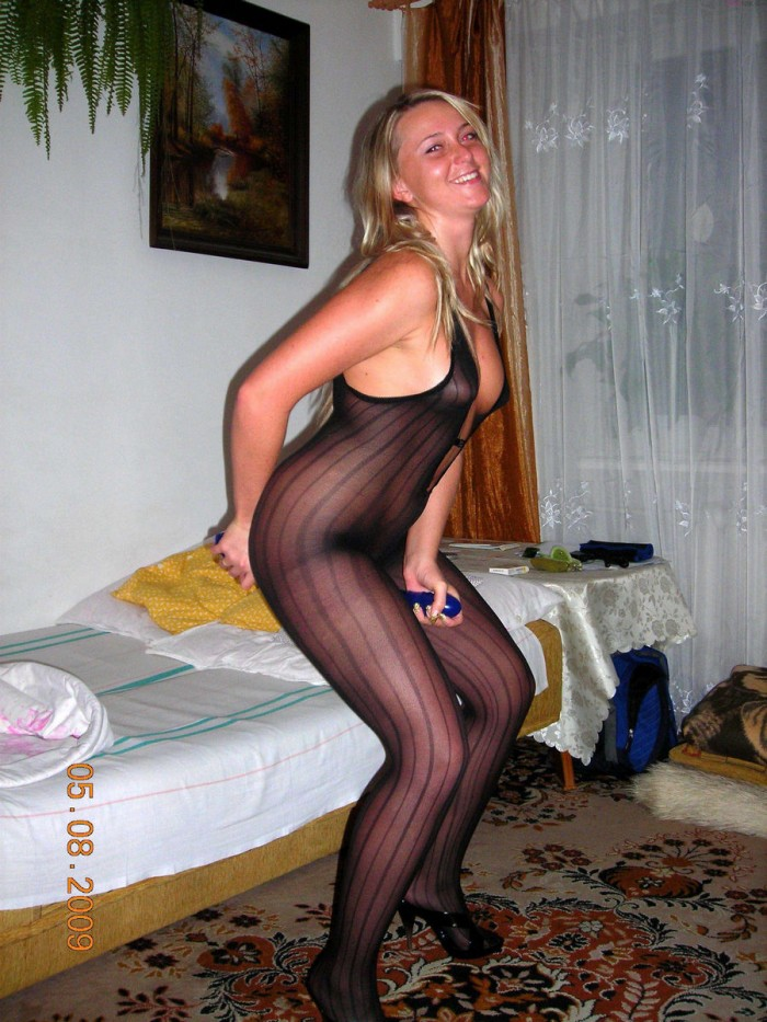 Horny Russian Blonde Wife Plays With Big Dildo And Have -4559