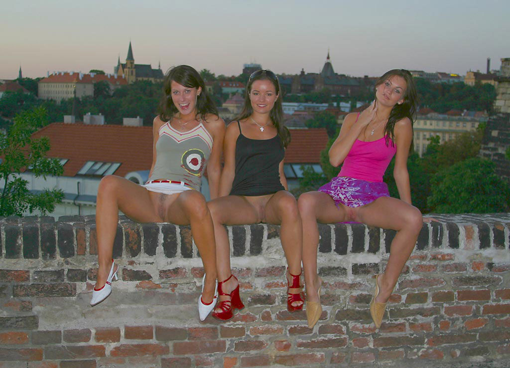 group of teen sporty girl shows pussies at public places russian