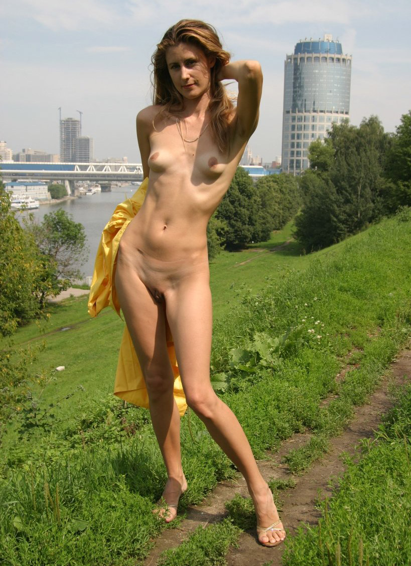 very skinny russian milf with amazing body posing naked