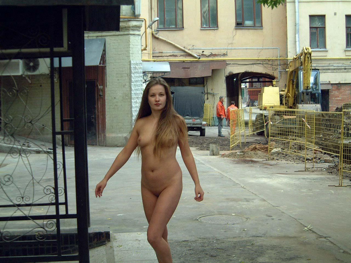 russian naked on the streets full nude waking
