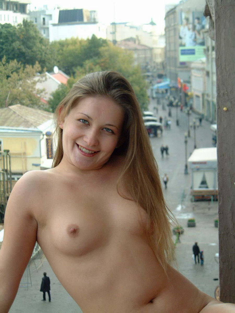 Totally Naked Russian Girl Posing At Public S