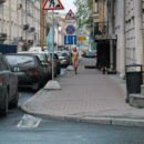 Crazy russian sporty teen walks totally naked at public streets