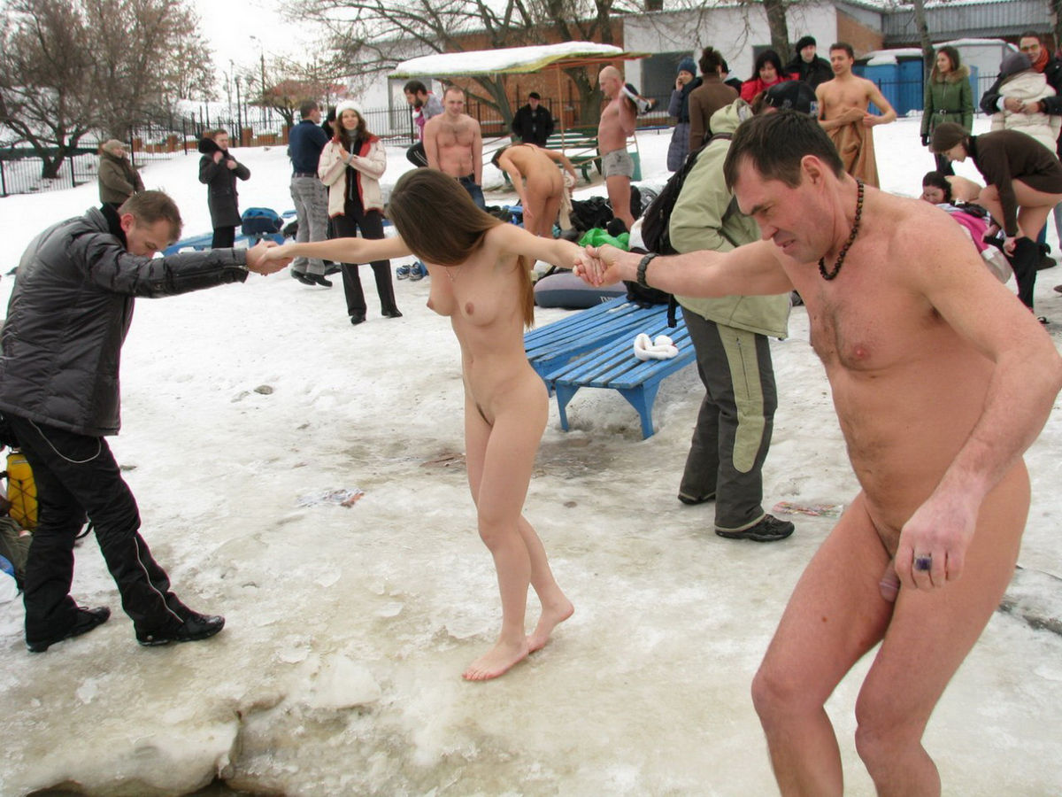 Nude Ice Swimming In Russia