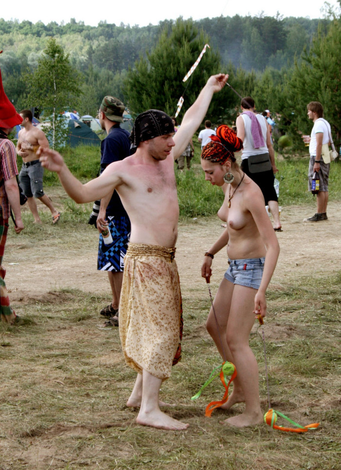 naked women dancing infront of boy