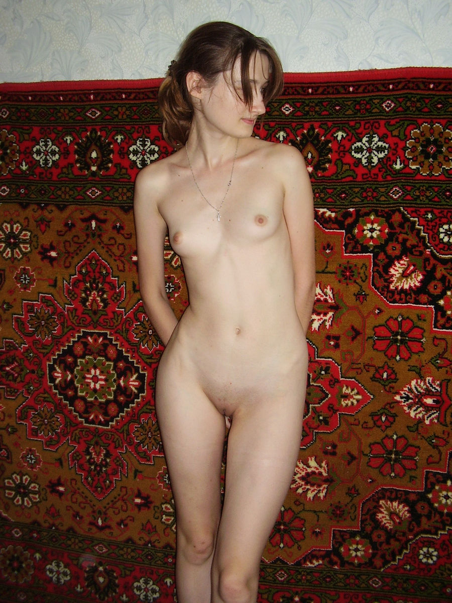 Lovely Skinny Girl With Small Tits At Home  Russian Sexy -2923