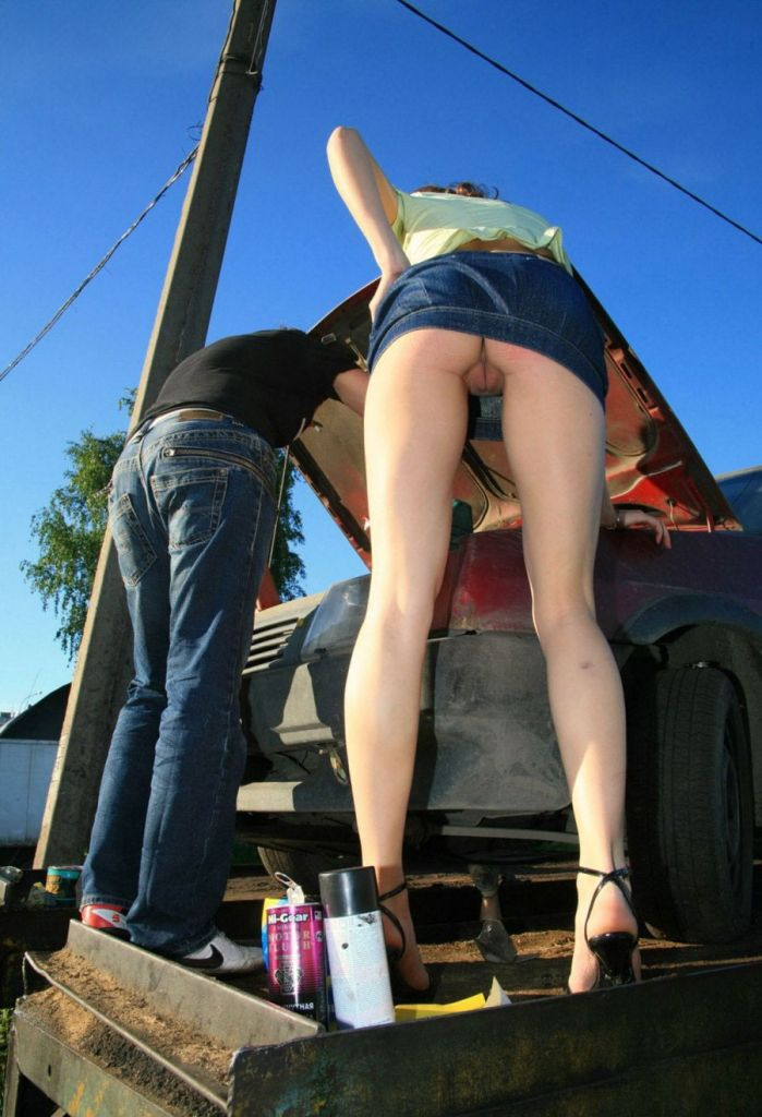 Think, no panties car something