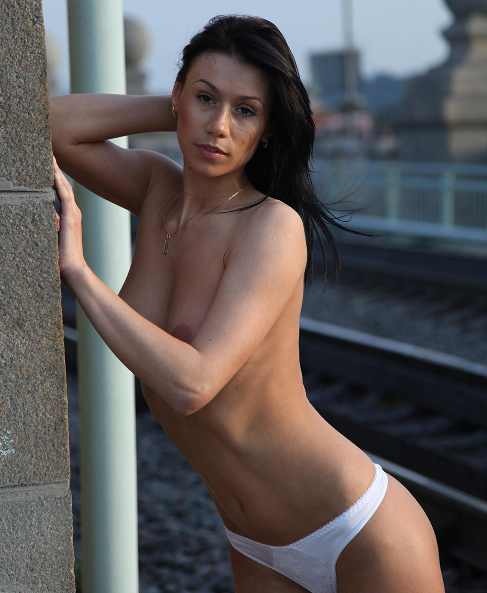 Amazing Sporty Brunette With Ideal Boobs Posing Topless At Public Places  Russian Sexy Girls-4657