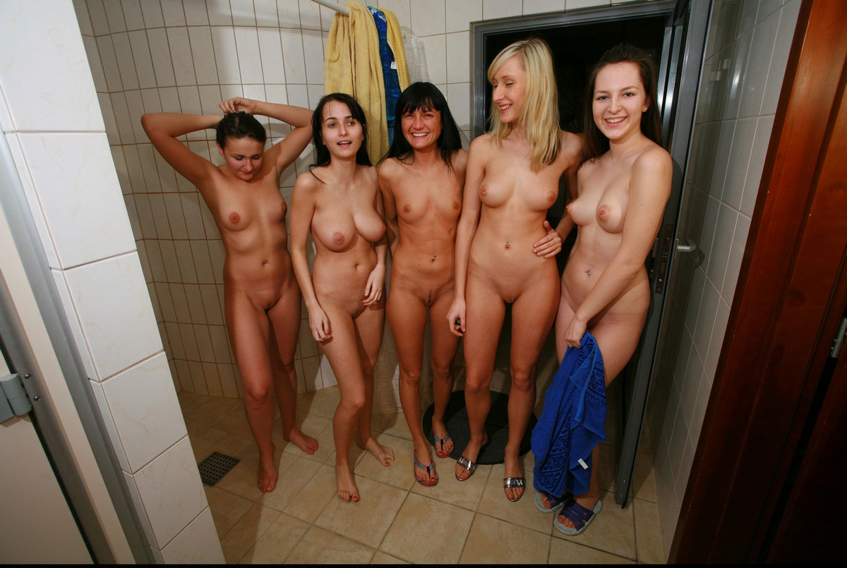 handjob Group shower