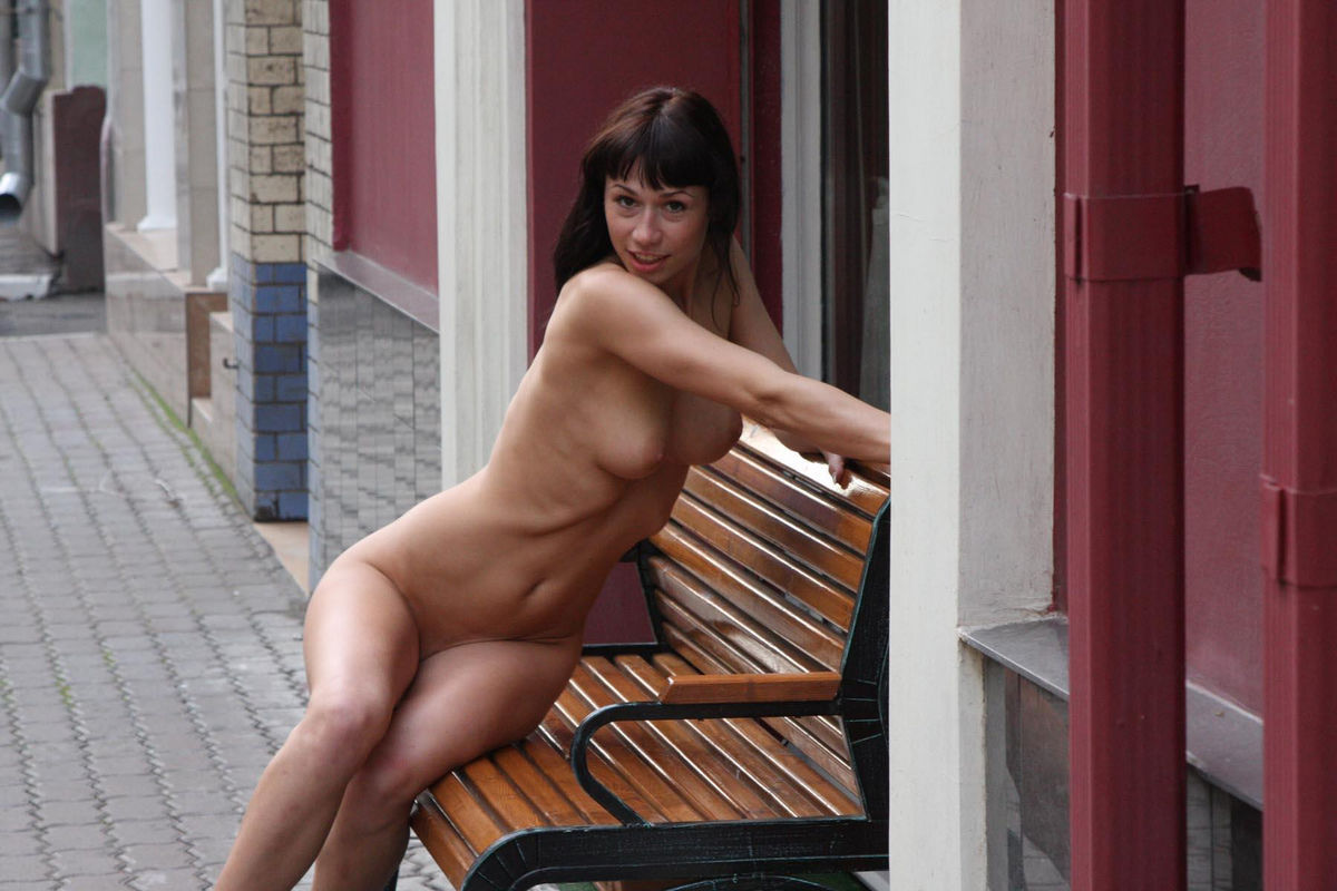 Crazy Russian Brunette With Sweet Boobs Posing Totally -7545