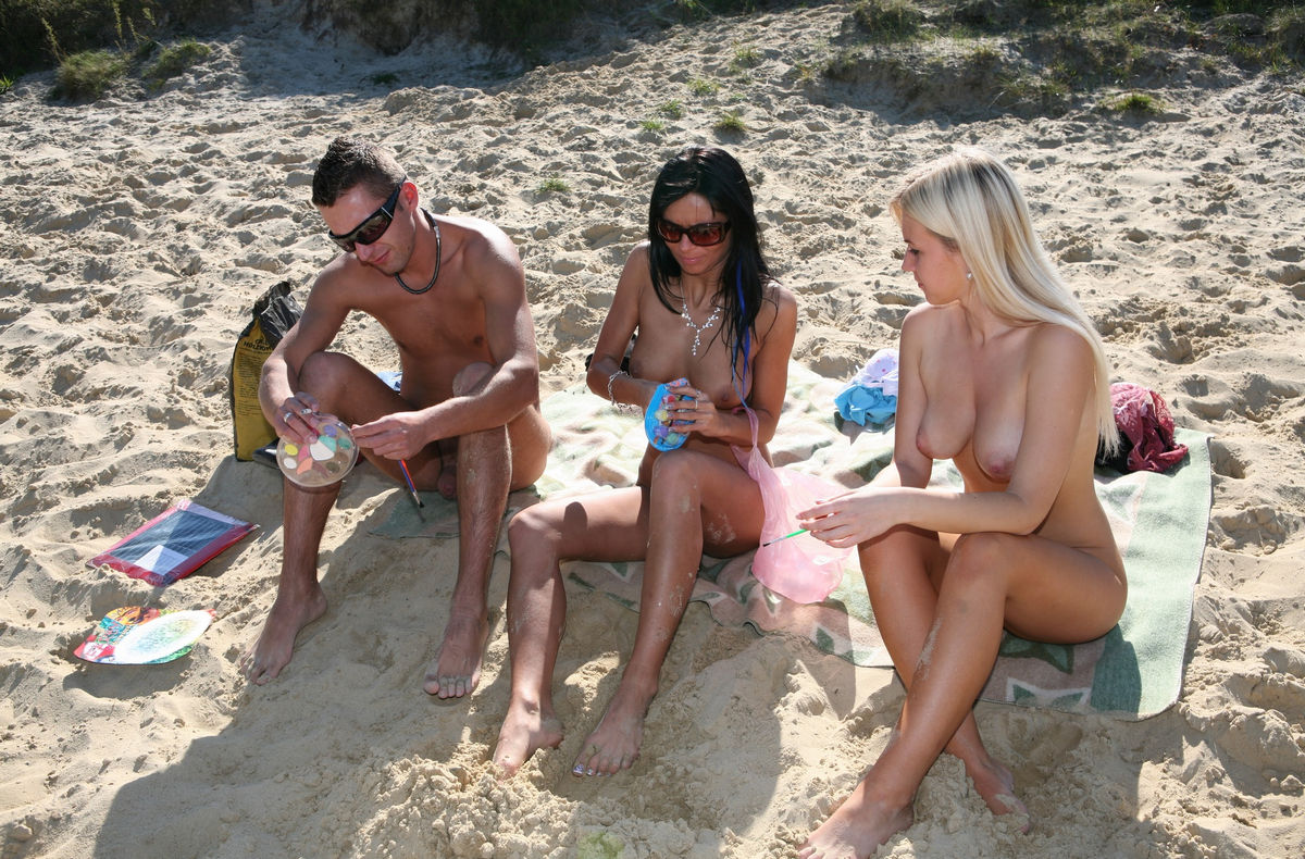 fun naked picture beach