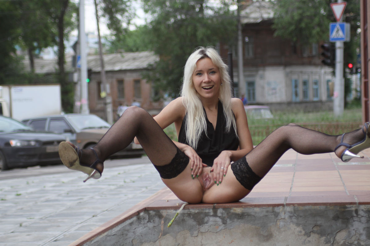 Think, that Russian pussy in public seems