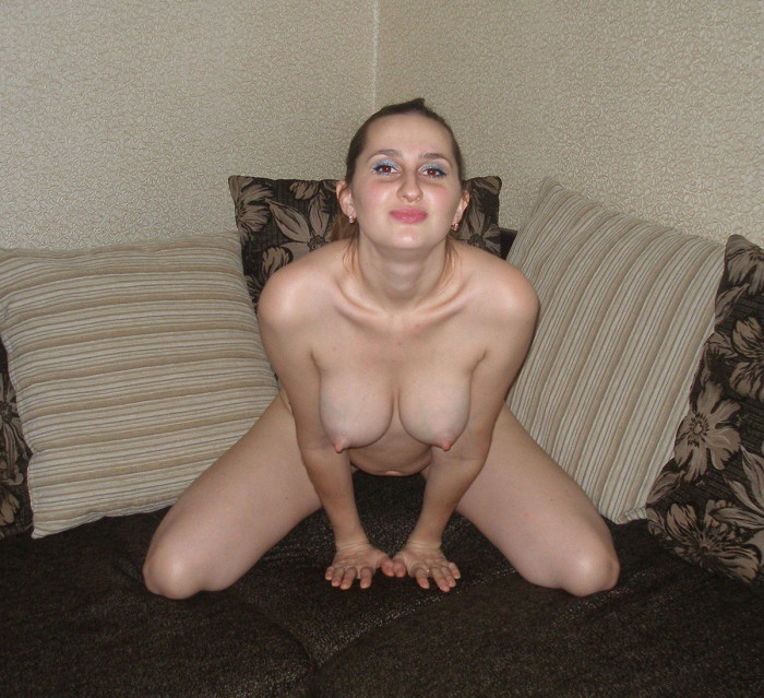 Nice amateur girl shows boobs and pussy