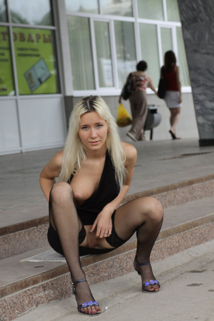 Perfect Russian Blonde Teen Shows Boobs And Pussy At Public  Russian Sexy Girls-7303