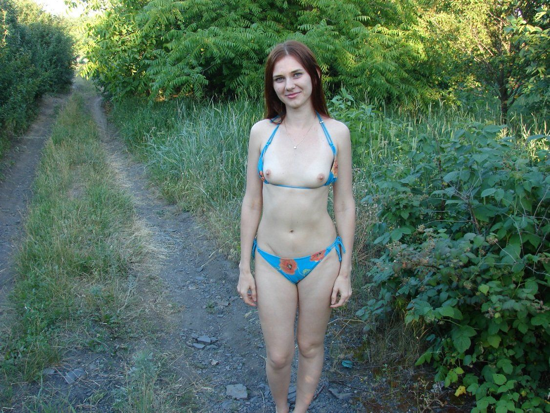 Nude girls small tits outdoors