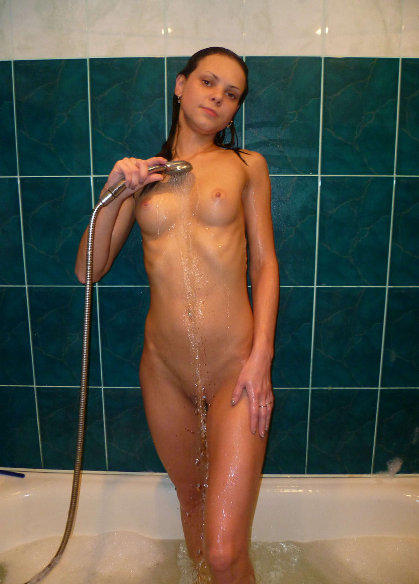 Sweet Brunette Teen With Ideal Body At Bath  Russian Sexy -8794