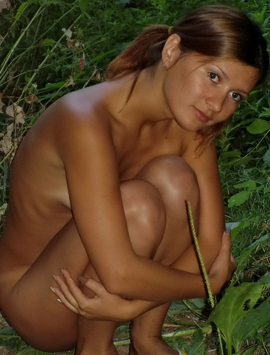 Very Sweet Russian Teen With Tanlines Posing Naked At -4000