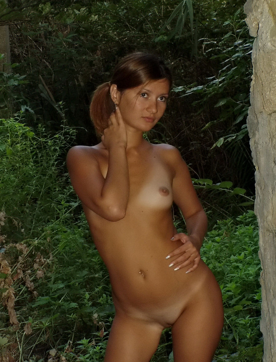 Very Sweet Russian Teen With Tanlines Posing Naked At -5207