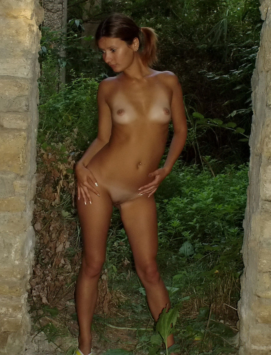 Very Sweet Russian Teen With Tanlines Posing Naked At -5011