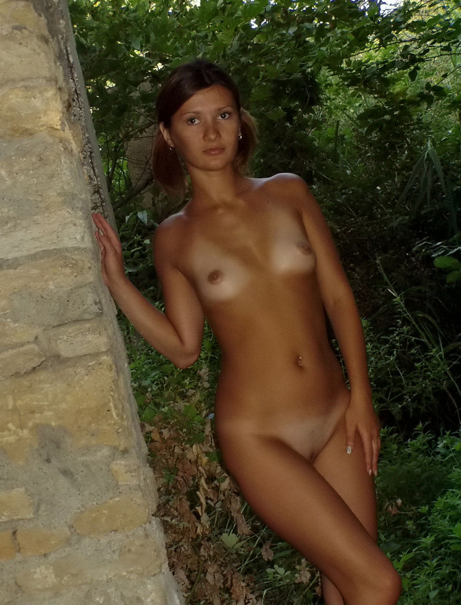 Very Sweet Russian Teen With Tanlines Posing Naked At -8277