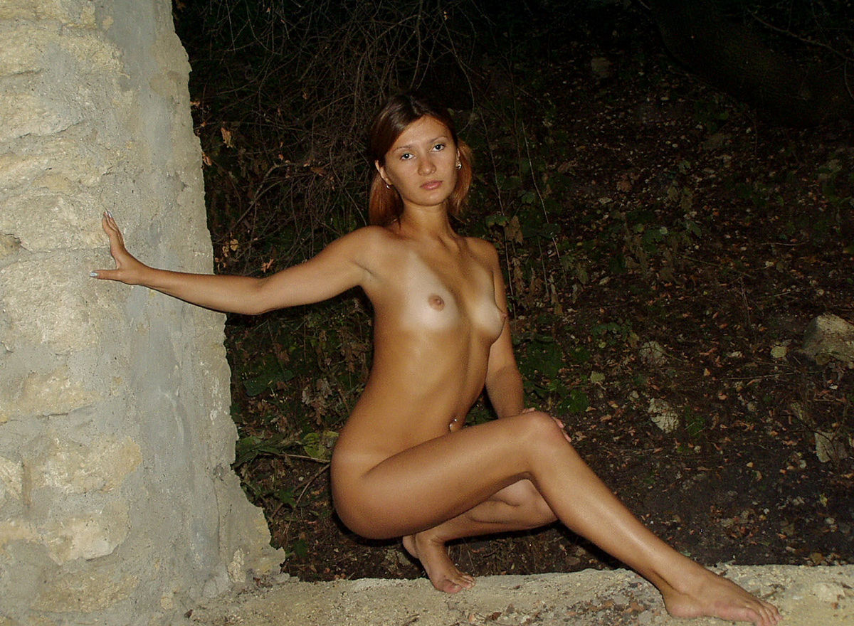 Very Sweet Russian Teen With Tanlines Posing Naked At -1987