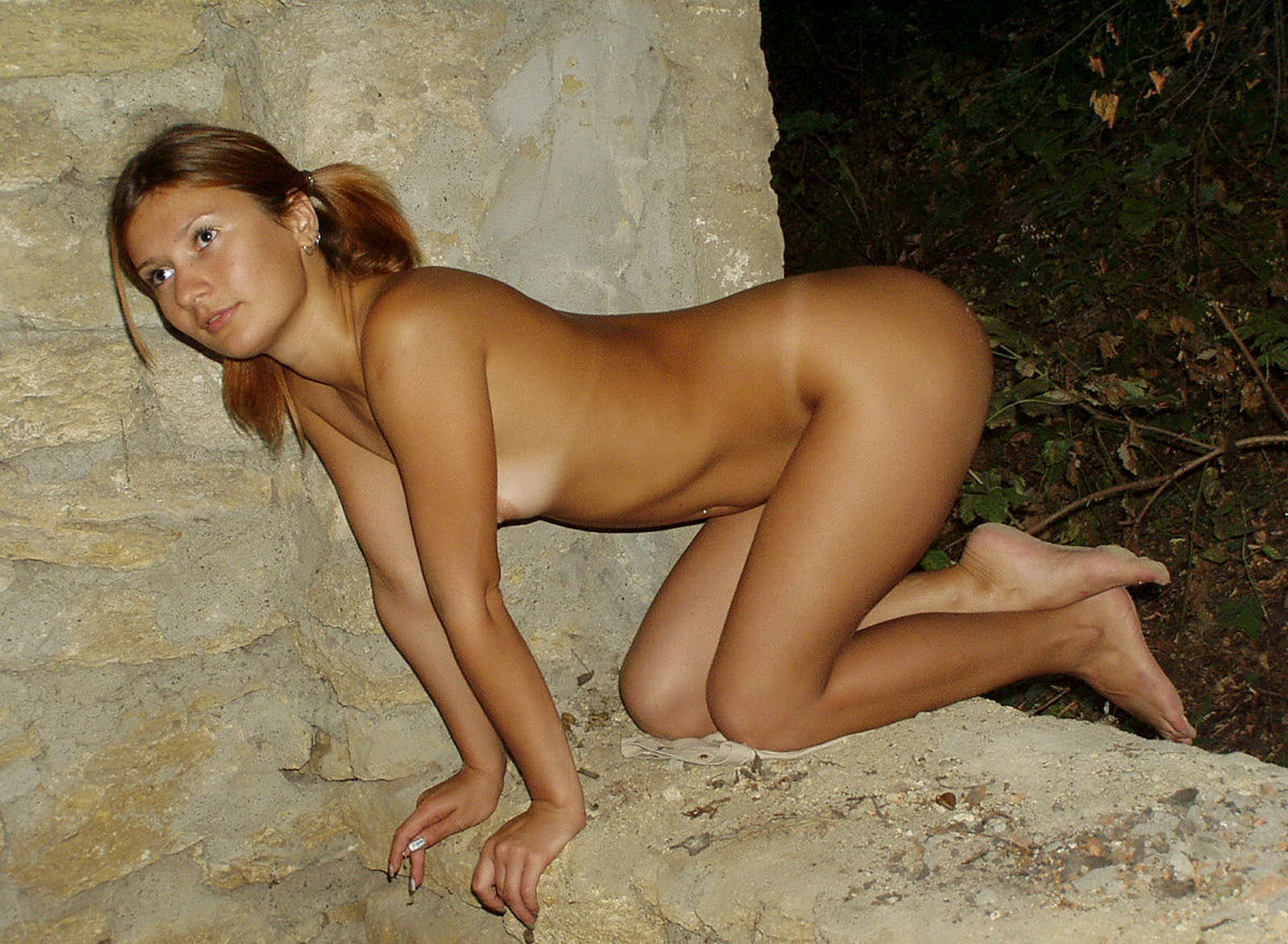 Very Sweet Russian Teen With Tanlines Posing Naked At -9811