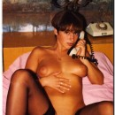 Vintage photos of nice brunette milf with big boobs