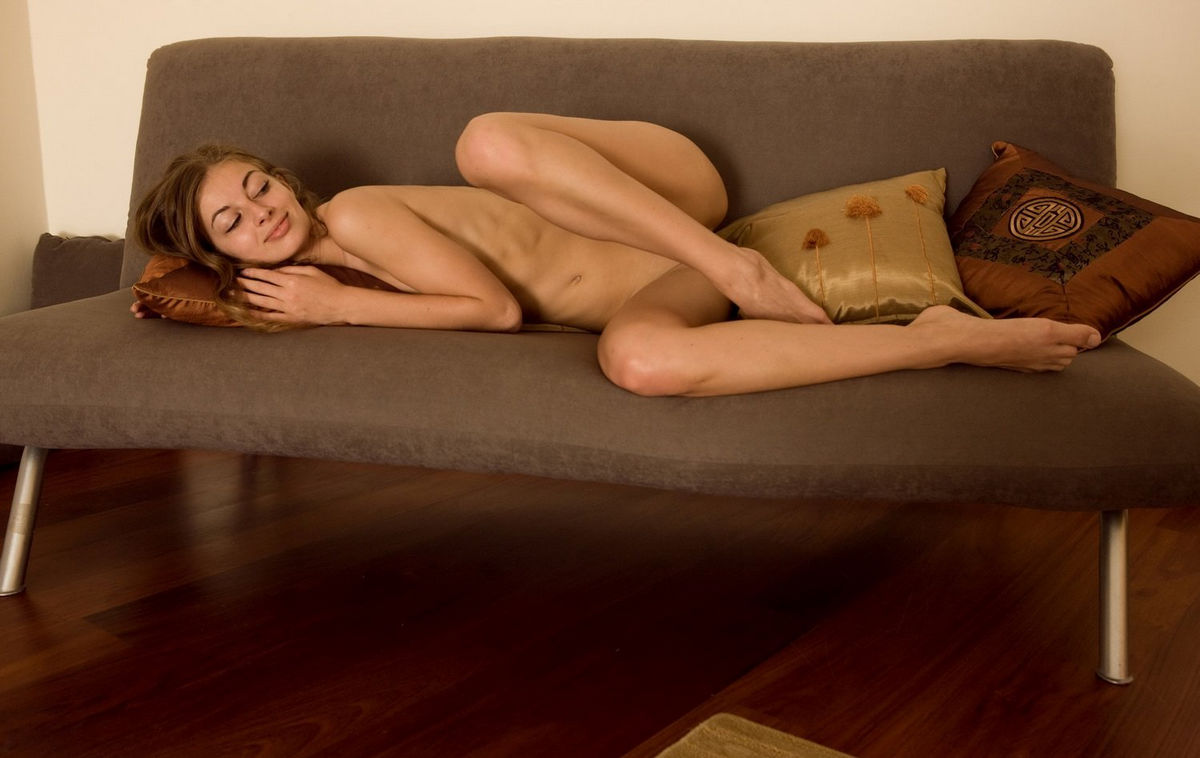 Sexy brunette girl takes anal on an ottoman - 1 10