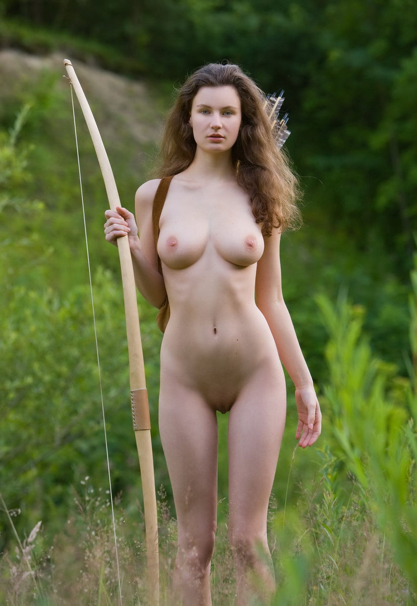 big titty women in archery