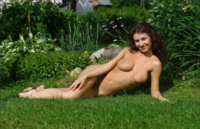 Brunette With Big Boobs Outdoors  Russian Sexy Girls-8435