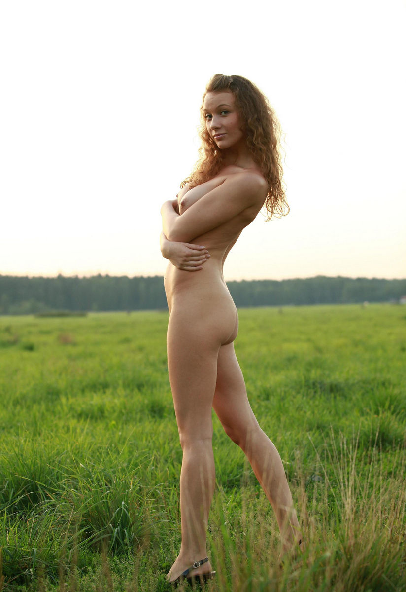 Curly Babe With Amazing Boobs Outdoors  Russian Sexy Girls-1674