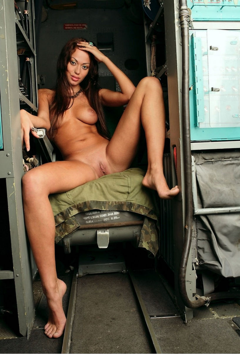 Gorgeuos Busty Russian Girl In Cockpit  Russian Sexy Girls-5430