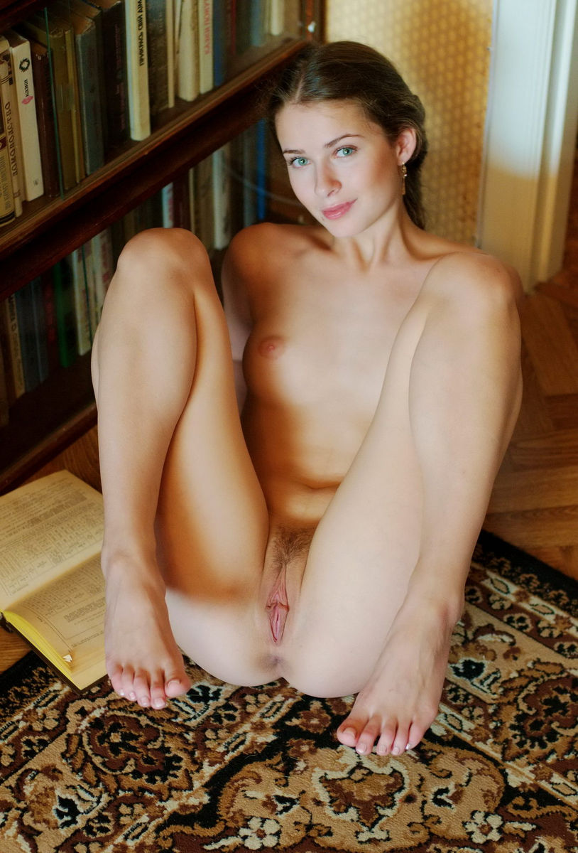 Library In Girl Nude#3