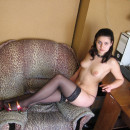 Russian amateur girl in stockings