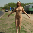 Russian teen not shy to walk naked