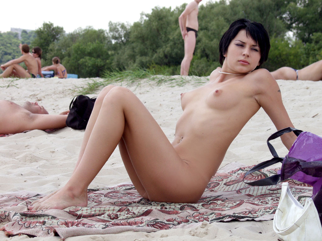 Short hair brunette nude beach