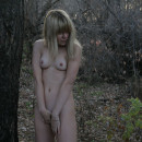 Shy russian teen posing naked at forest