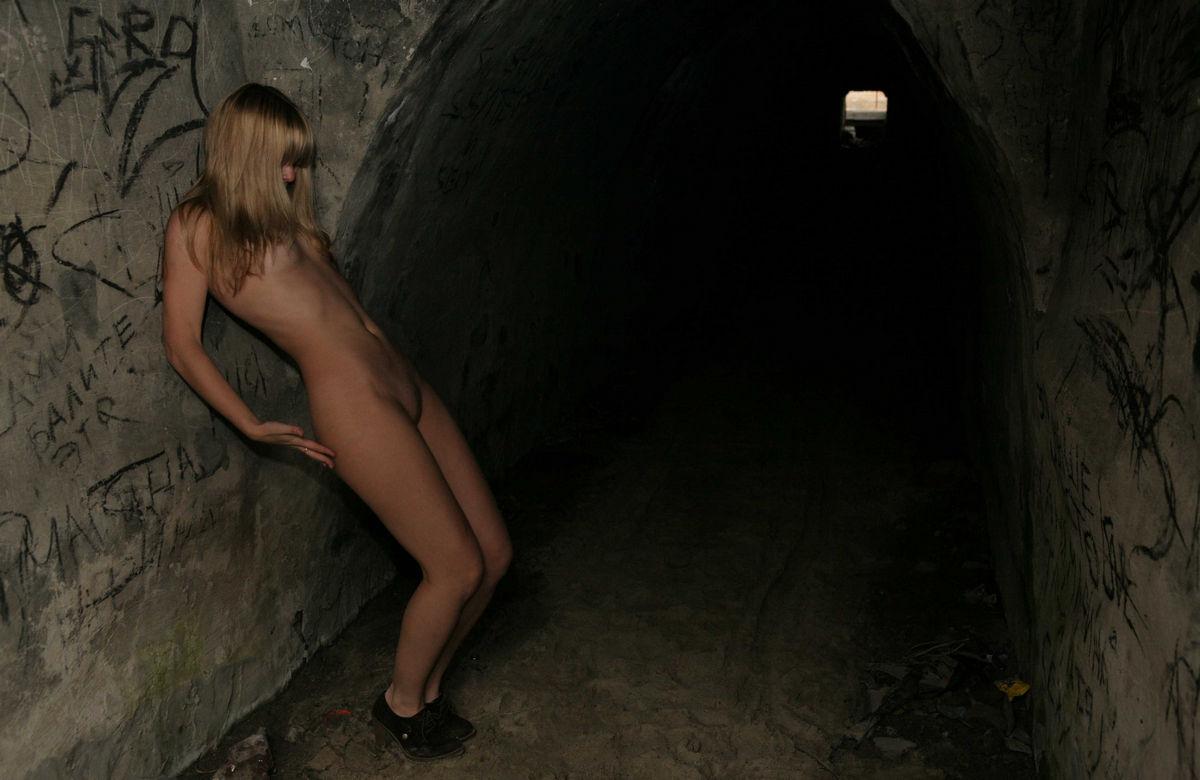 Shy teen blonde shows tits outdoors | Russian Sexy Girls