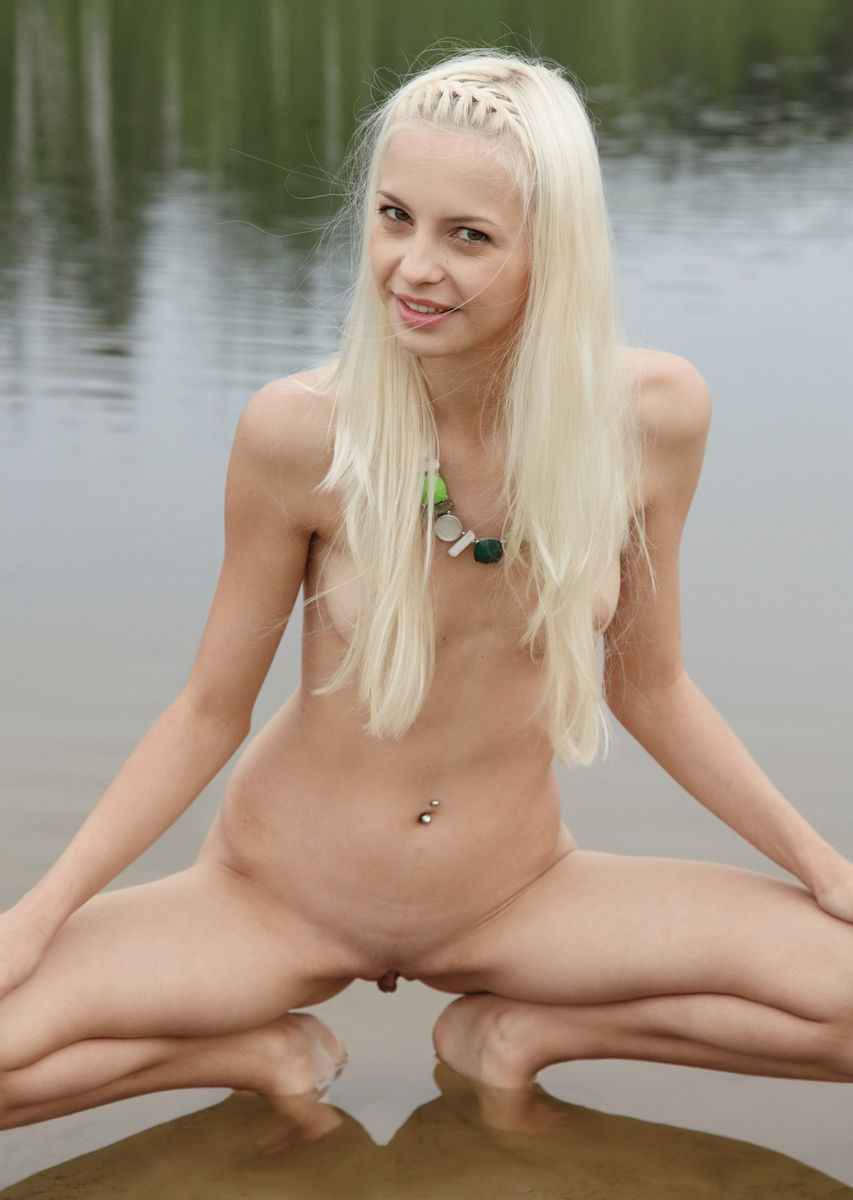Naked blondes outdoors