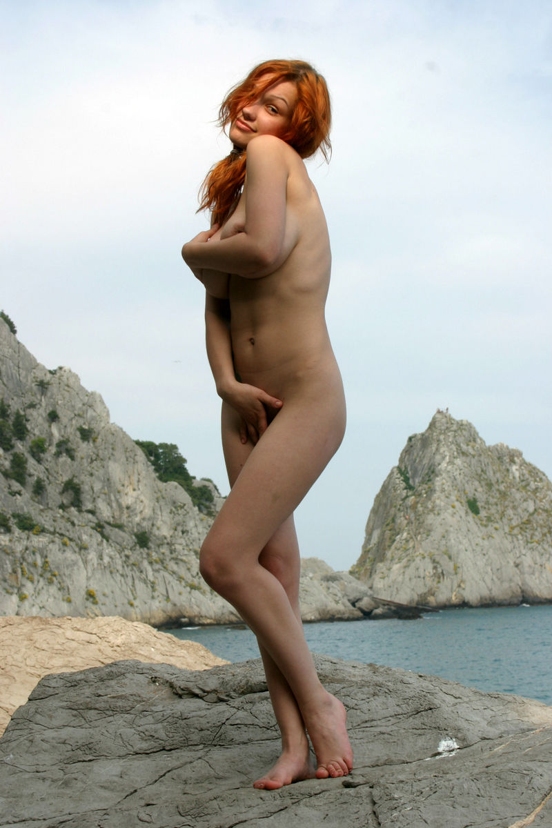 Smiling Redhead With Huge Boobs Undressing  Russian Sexy -2003