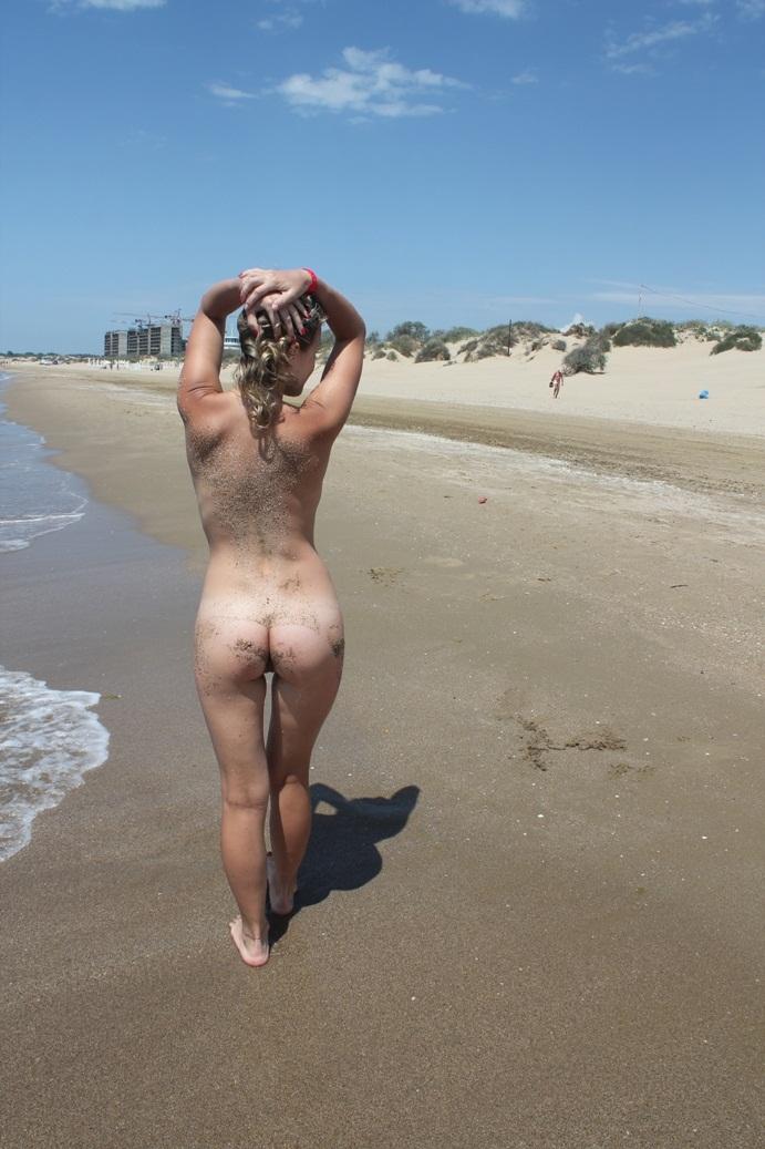 from Benson sexy blonde at beach undress