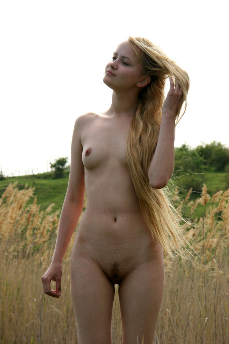 naturally naked woman in nature
