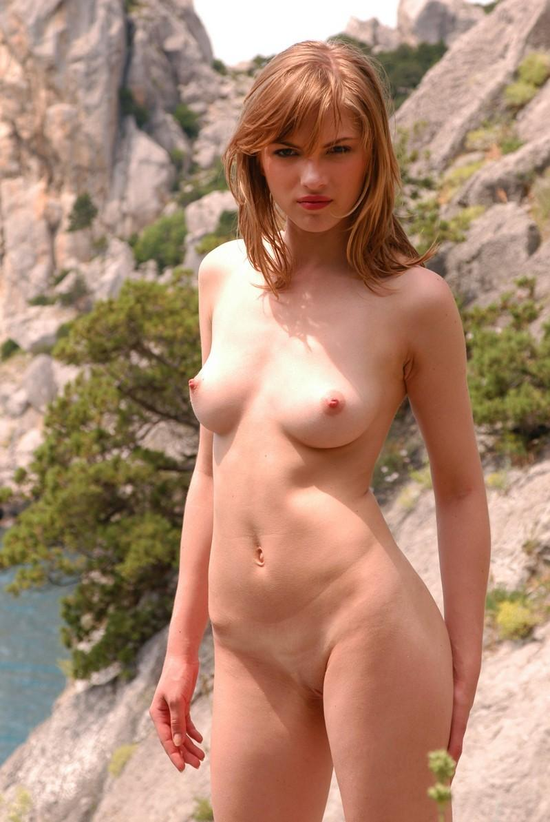 Busty Russian Undressing On Rocks  Russian Sexy Girls-9001