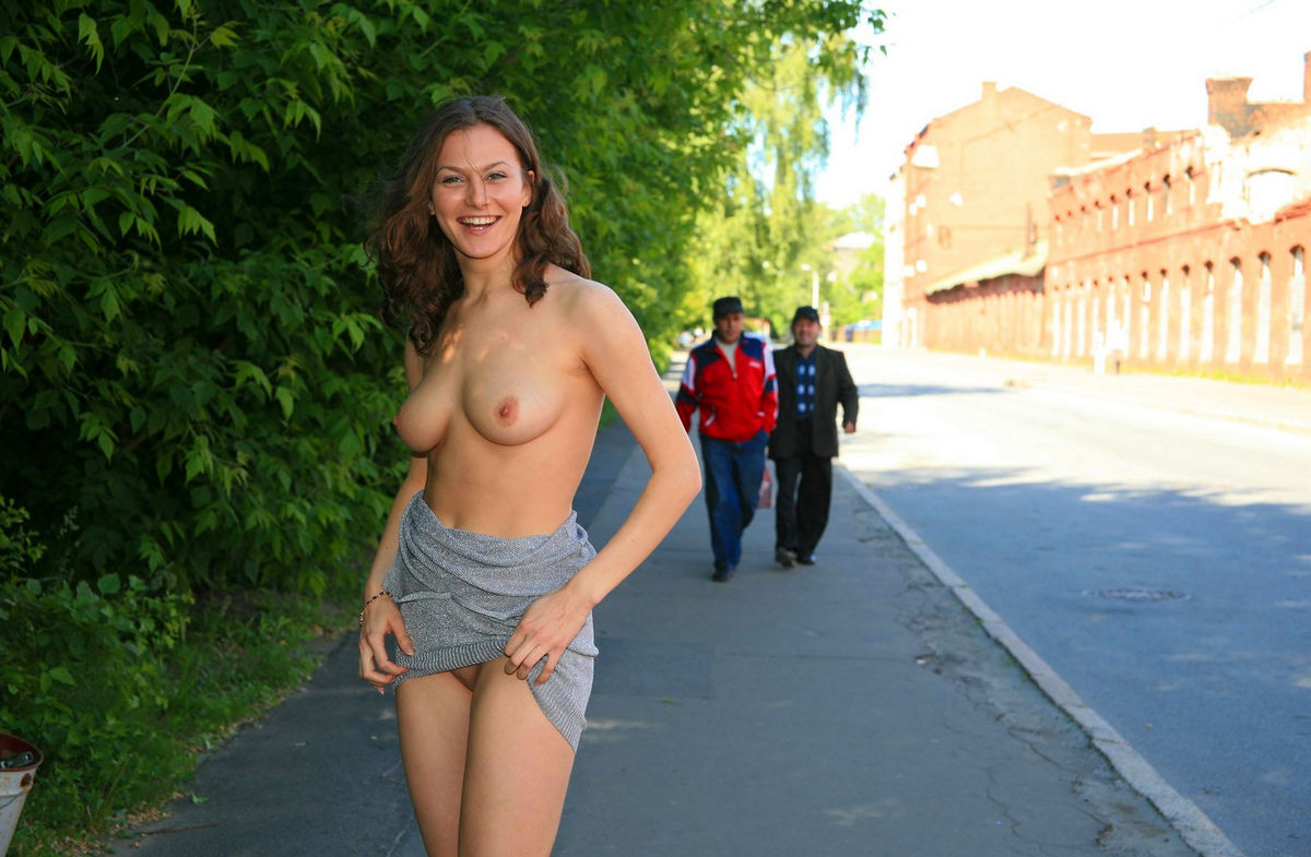 Not girl undressing and exposing her goods