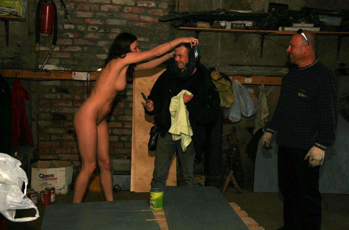 Girls kissing butt naked