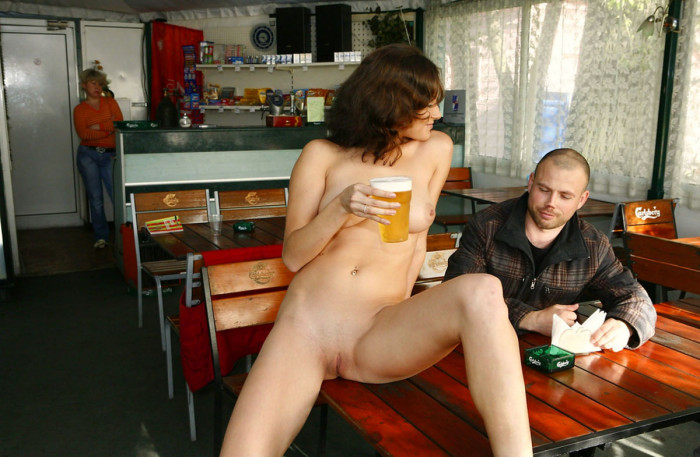 Opinion, actual, Busty brunette nude pub party
