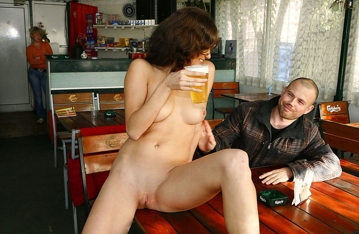 Quite naked chicks and beer