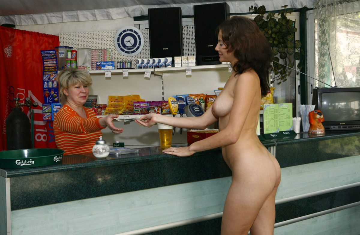 Teen nude in bar